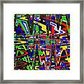 Color Works Abstract Framed Print