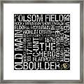 Colorado College Colors Subway Art Framed Print