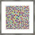 Colored Geometries Framed Print