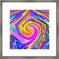 Colored Lines And Curls Framed Print