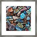 Colored Polished Stones Framed Print