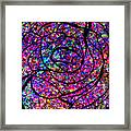 Colorful Abstract Rose  Framed Print