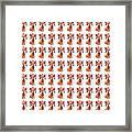 Colorful Angel Pattern Illustration Framed Print
