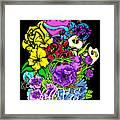 Colorful Art Love Bouquet Framed Print