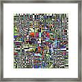 Colorful Chaotic Composite Framed Print