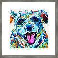 Colorful Dog Art - Smile - By Sharon Cummings Framed Print