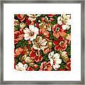 Colorful Floral Design Framed Print