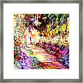 Colorful Garden Framed Print