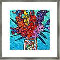 Colorful Gladiolus Framed Print