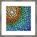 Colorful Mosaic Art - Blissful Framed Print