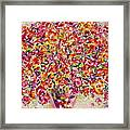 Colorful Organza Framed Print