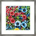 Colorful Petunias 2 Framed Print