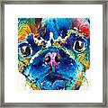 Colorful Pug Art - Smug Pug - By Sharon Cummings Framed Print