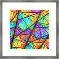 Colorful Slices Framed Print