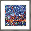 Colorful St Louis Skyline Framed Print