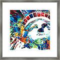 Colorful Statue Of Liberty - Sharon Cummings Framed Print