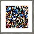 Colorful Stones I Framed Print