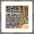 Colorful Streets Of The City Of Stuart Framed Print