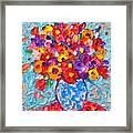 Colorful Wildflowers - Abstract Floral Art By Ana Maria Edulescu Framed Print