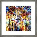 Colors Of Emotions - Palette Knife Oil Painting On Canvas By Leonid Afremov Framed Print