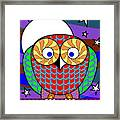 Colourful Owl Framed Print