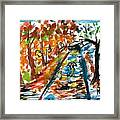 Colourfull Lovers Walking Framed Print