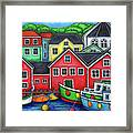 Colours of Lunenburg Framed Print