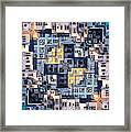 Community Of Cubicles Framed Print