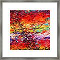 Composition # 6. Series Abstract Sunsets Framed Print