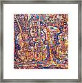 Composition With Musical Instruments Framed Print