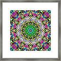 Concentric Colors Abstract Framed Print