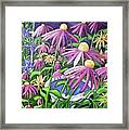 Coneflowers In Gentle Wind Framed Print