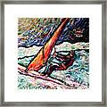 Conscience Surfer Framed Print by Dennis Velco