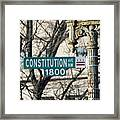 Constitution Avenue Street Sign Framed Print