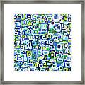 Cool Squares And Shapes Framed Print