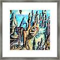 Coral Island, Stone City Of Alien Civilization Framed Print
