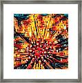 Corals Under The Sea Abstract Color Art Framed Print