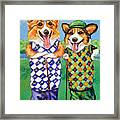 Corgi Golfers Pembroke Welsh Corgi Framed Print