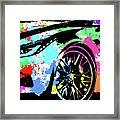 Corvette Pop Art 3 Framed Print