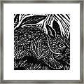 Cottontail Block Print Framed Print by Ellen Miffitt