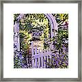 Country Garden Gate Framed Print