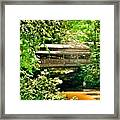 Covered Bridge At Lanterman's Mill Framed Print