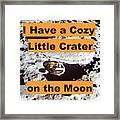 Crater16 Framed Print