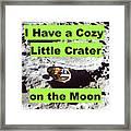 Crater18 Framed Print
