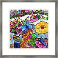 Craving Mardi Gras Beads - Tiptoe Pleading Technique - Vignette Framed Print