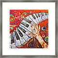 Crazy Fingers - Piano Keyboard  Framed Print