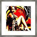 Crimson Moon Framed Print