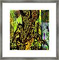 Crocodile At Nile Framed Print