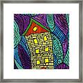Crooked Yellow Brick House Framed Print