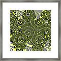 Crossing White Lines Abstract Framed Print